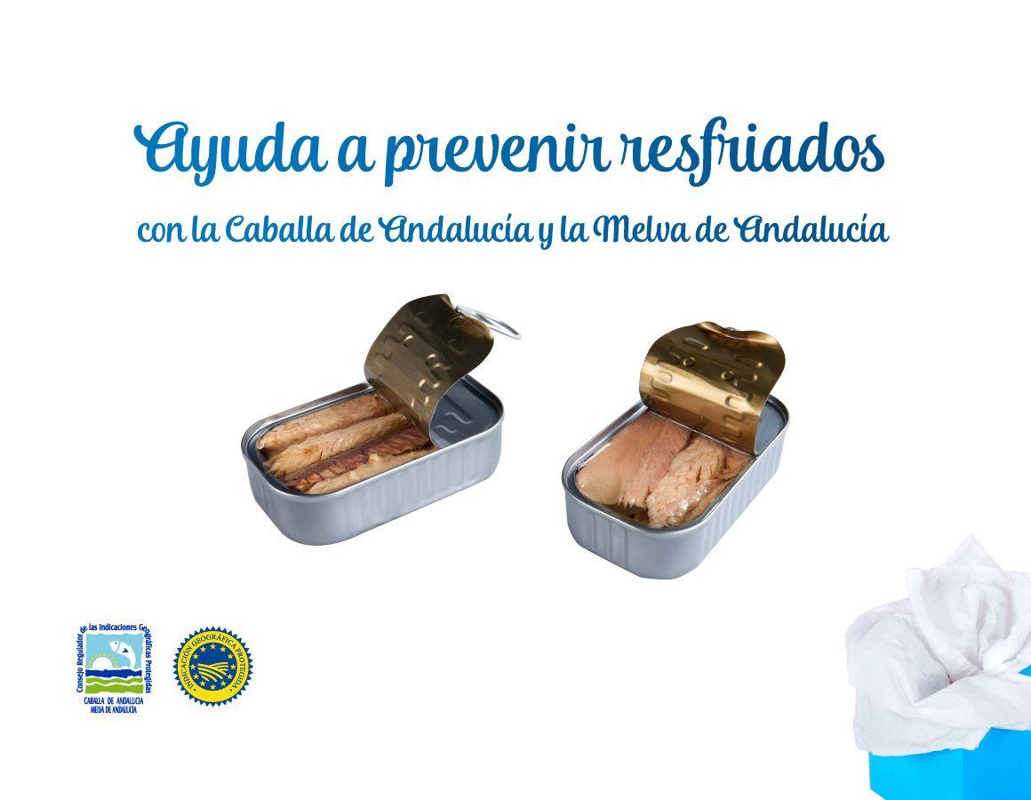 Ayuda a prevenir resfriados con la Caballa de Andalucía y la Melva de Andalucía